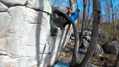 Sketchy topout on this fun V5