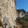 Paret de les Bruixes is stacked with 7's , 8's and even a couple 9's for climbers wishing to get air pump on.