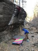 Rock Climbing Photo: Slopey topout