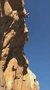 Rock Climbing Photo: Randy Leavitt on the FA of No Toucho Randino. The ...