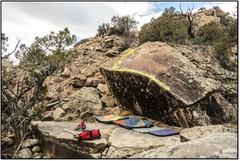 Rock Climbing Photo: Big Bottom Lip beta.