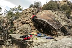 Rock Climbing Photo: The mantel of Big Bottom Lip.