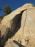 Rock Climbing Photo: Looking straight up the steep part of the route. ...