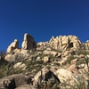 Some of the formations in Rotten Rock Valley West.