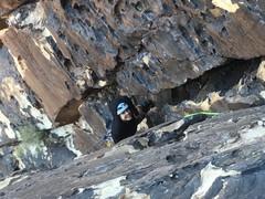 Sarah, warming up at the top of P1