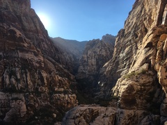 Beautiful view up-canyon from lunch ledge