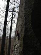 Local climbing up Barbarians at the Gate.