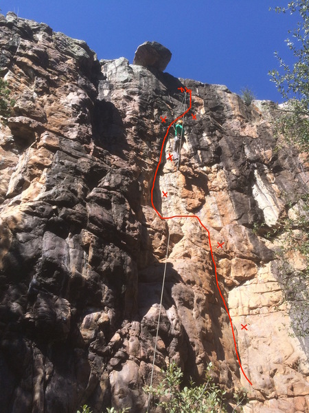 Manny working the crux.