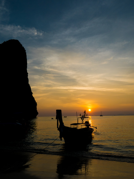 Thaiwand wall at Sunset