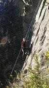 on the climb