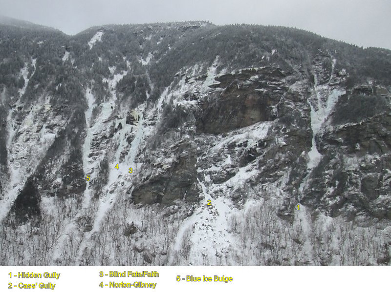 West side of Smuggler's Notch from the top of Elephant's Head Gully