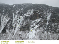Rock Climbing Photo: West side of Smuggler's Notch from the top of Elep...