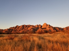 Rock Climbing Photo: The stronghold sunset