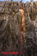 Rock Climbing Photo: Stay Golden