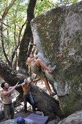 Rock Climbing Photo: Side view of the Nature Nazi Arête (V6/V7). Photo...