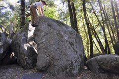 Rock Climbing Photo: Funky Arete, V1, Nature Nazis. Photo: MorComm