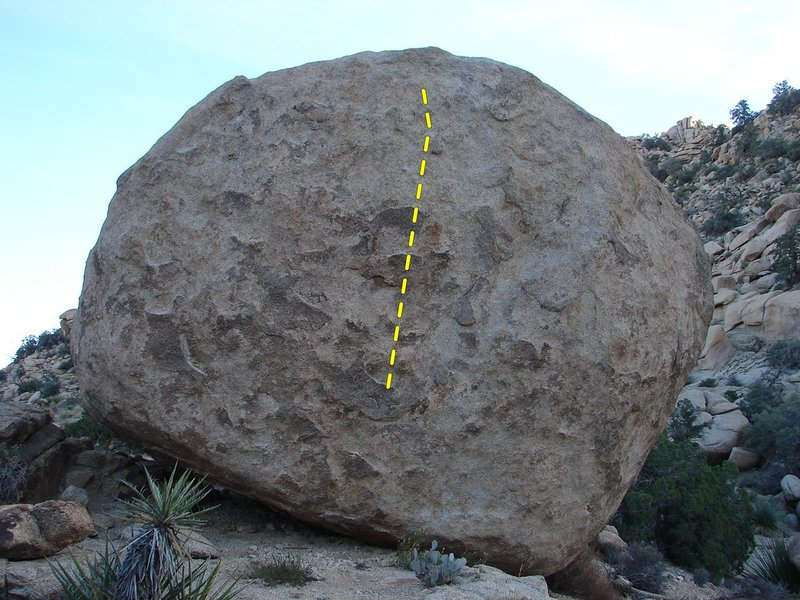 Technical climbing on a large boulder.