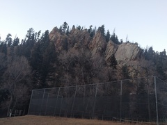 The view from the tennis courts