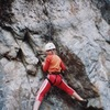 Climber at the start of TLB (on 4/28/08)