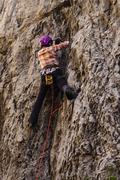 Rock Climbing Photo: Gigi on The Dolphin. September 2017.