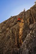 Rock Climbing Photo: Jonny cruxing on Stay Golden. September 2017. Phot...