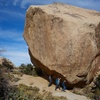 Don Juan Boulder just before South Astrodome. Thanks to our efforts, it is now a few picometers further east.