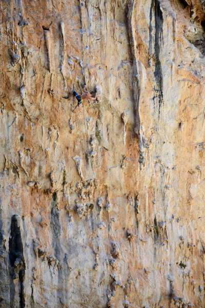 Climber on Armata Sikati.
