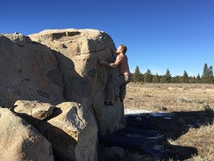 Rock Climbing Photo: Working on my tan on Christmas