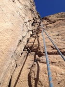 Rock Climbing Photo: A close view of the crack.