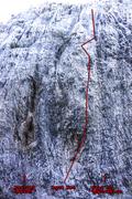Rock Climbing Photo: Aqua Net and adjacent routes.