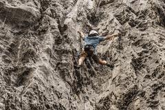 Rock Climbing Photo: Hing climbs Flash Flood. 9/13/17.