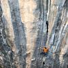 """Tobias Haug climbing""""La Du Monde Au Balkon"""" in Citibi. Photo Daniel Schmid"""