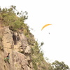 Climbing and paragliding