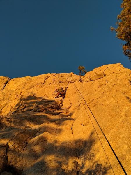 Scott climbing Memorial Daze 2017 12 28