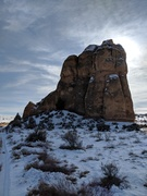 Castle Rock as seen on the drive in.