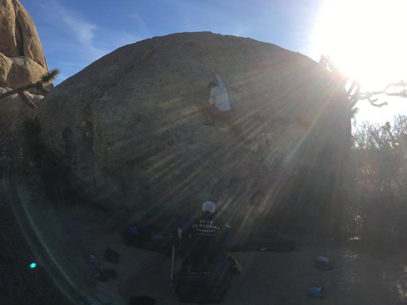 pinching the nipple on key largo (chip flakey boulder)