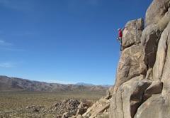 Rock Climbing Photo: Todd Gordon leads cougar.com  photo by bob gaine...