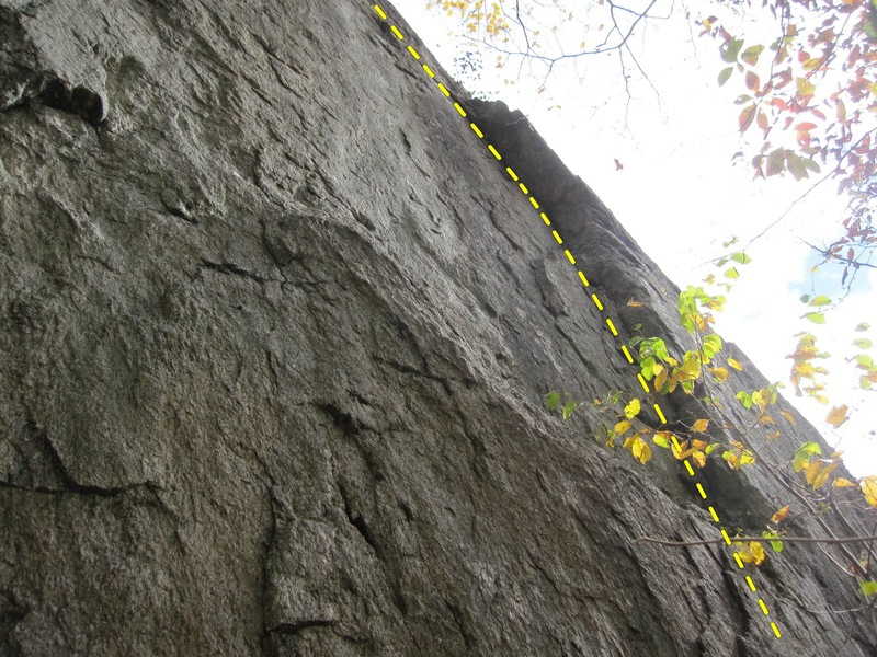 After the lower crux, enjoy plugging gear up the left-facing corner!