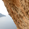 Aegialis (the climber on the skyline), Kalymnos.
