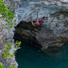 Climbing in Bermuda.