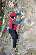 "Rock Climbing Photo: The late Donn Simmons on the ""Shady Rock Trav..."