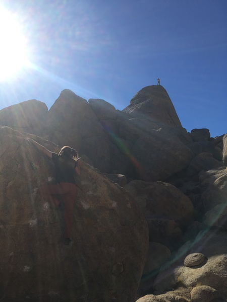 Bouldering & rope climbing in the Hills <br> Dec. 31,  2017