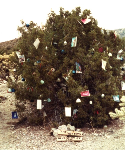 during the christmas season locals decorate the juniper trees at the pass hence the name christmas