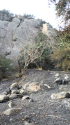 Rock Climbing Photo: There is evidence of a significant controlled burn...