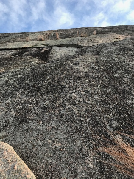 A view of the Meat Sweat route from the base.