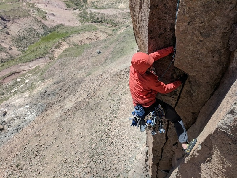 Nate following the Bone Pipe Dihedral on the FA