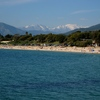 View toward the beach by the Ajaccio airport.