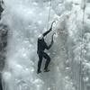 Half way up on a 150 foot climb.