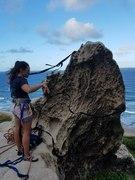 Zoe Defreitas setting the anchor for Beach View.
