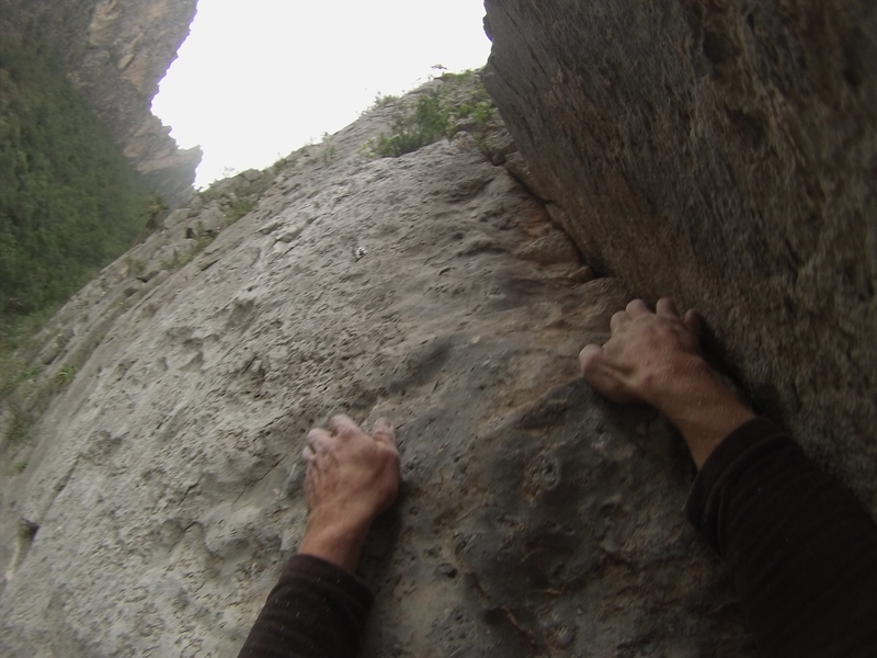 Pic of the crux via GoPro, 2017.